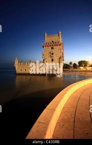 Belem Tower (Torre de Belem), Lisbon, Portugal - Stock Photo
