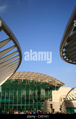 Oriente Railway Station (Gare do Oriente), Parque das Naçoes, Lisbon, Portugal - Stock Photo