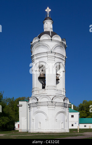 The 16th century bell-tower of the Church of Saint George at Kolomenskoye Estate in Moscow, Russia - Stock Photo