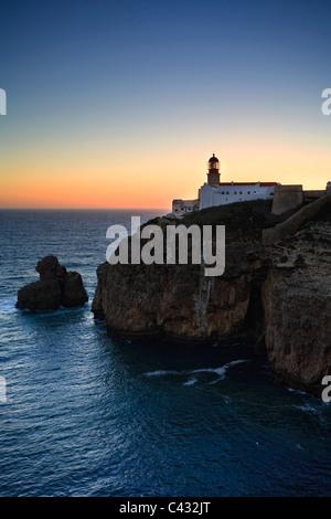 Cabo de Sao Vicente (Europe soutwesternmost point), Sagres, Algarve, Portugal - Stock Photo