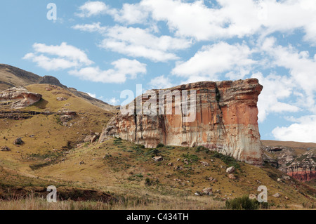 The Brandwag (sentry in English) Buttress, Golden Gate Highlands National Park, Free State, South Africa - Stock Photo