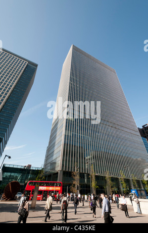 Office buildings in Canary Wharf,London,England,UK - Stock Photo