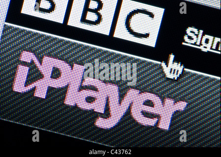 Close up of BBC iPlayer Desktop Manager as seen on BBC website. (Editorial use only: print, TV, e-book and editorial - Stock Photo