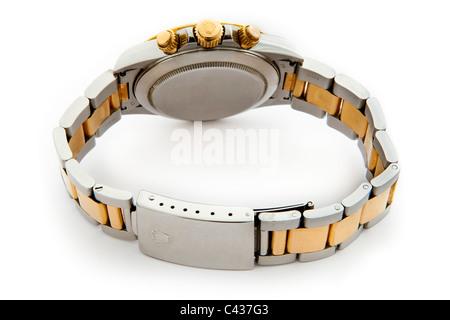 Rolex Daytona Cosmograph Oyster Perpetual Chronometer 18k gold and steel Swiss chronograph wrist watch JMH4901 - Stock Photo