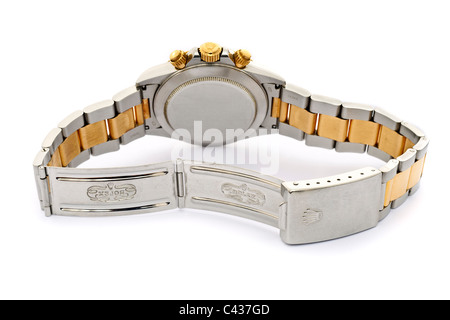 Rolex Daytona Cosmograph Oyster Perpetual Chronometer 18k gold and steel Swiss chronograph wrist watch JMH4902 - Stock Photo