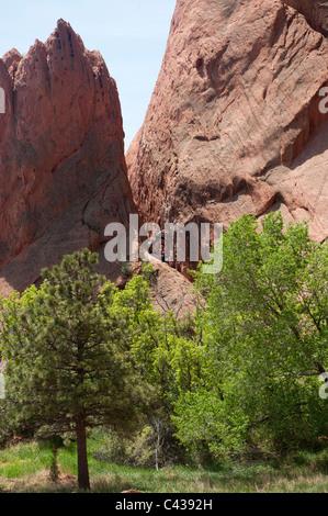 Rock-climbing lesson, Garden of the Gods, Colorado Springs CO
