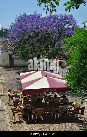 Café da Sé, Calle Se, Silves, Silves Municipality, Faro District, Algarve Region, Portugal - Stock Photo