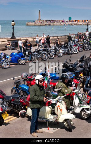 Ace Cafe Bike run to Margate Kent 30th May 2011 - Stock Photo