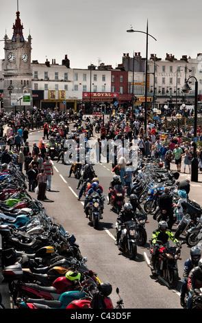 Ace Cafe Bike run to Margate Kent - Stock Photo