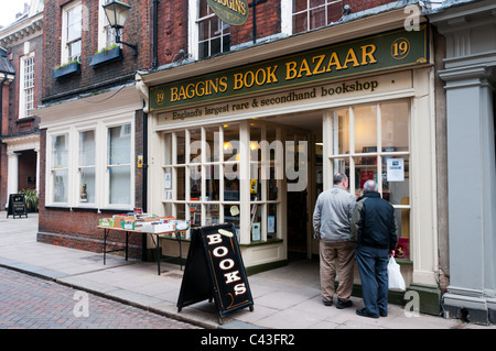 Baggins Book Bazaar in Rochester High Street describes itself as England's largest rare and secondhand bookshop. - Stock Photo