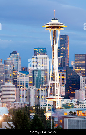 Seattle skyline from Kerry Park, USA - Stock Photo