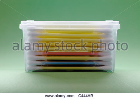 Q-tips in a box - Stock Photo