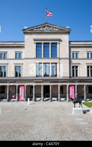 Exterior of Neues Museum or New Museum on Museum Island or Museumsinsel in Mitte district of Berlin Germany - Stock Photo