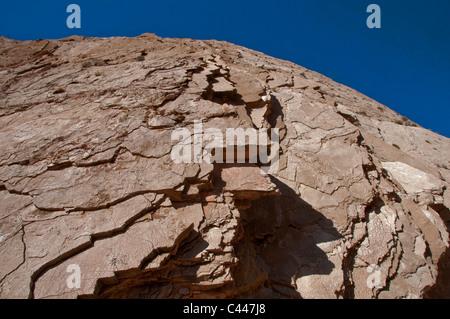 Lovell narrows, Lake Mead National Recreation Area, Nevada, stone, rocks, slates, blue sky, USA, North America, - Stock Photo