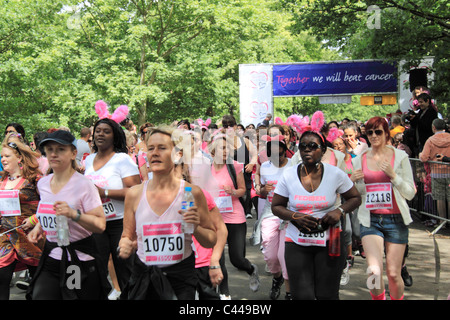 At the start of Race for LIfe in Regent's Park, London, on Sunday 22nd May 2011 - Stock Photo