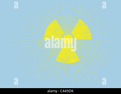 The Sun And A Radioactive Symbol Stock Photo 36974579 Alamy