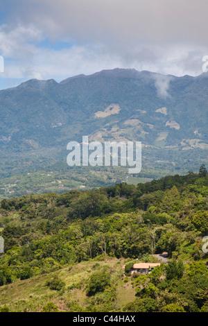 Boquete is a village in Chiriquí province, in western Panama. Volcano Baru in clouds. - Stock Photo