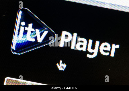 Close up of ITV Player logo as seen on ITV website. (Editorial use only: print, TV, e-book and editorial website). - Stock Photo