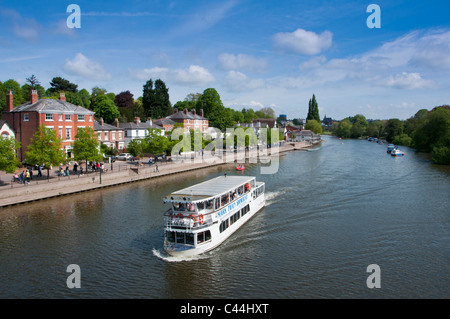 Boats on river Dee, Chester, Cheshire, England. 2011 - Stock Photo