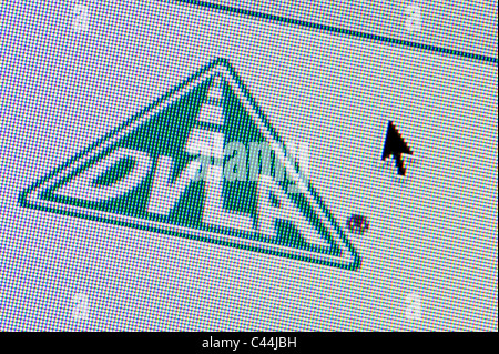 Close up of the DVLA logo as seen on its website. (Editorial use only: print, TV, e-book and editorial website). - Stock Photo