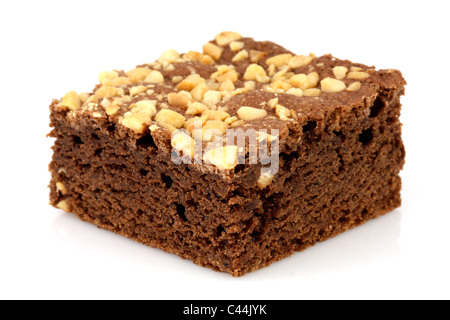 fresh wonderfully moist brownie with a deep fudgy chocolate flavor - Stock Photo