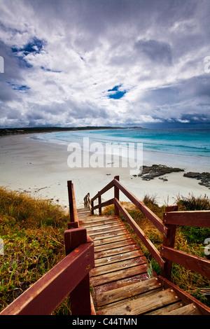 Boardwalk leading down to Twilight Beach. Esperance, Western Australia, Australia - Stock Photo