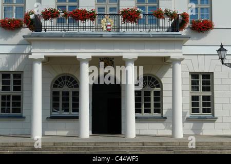 Germany, Mecklenburg-West Pomerania, Wismar, entrance, city hall building, marketplace, architecture, building, - Stock Photo