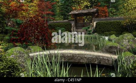 Stone bridge japanese tea garden golden gate park san for Koi pond japanese tea garden san francisco