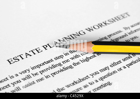Worksheets Estate Planning Worksheet estate planning worksheet stock photo royalty free image photo