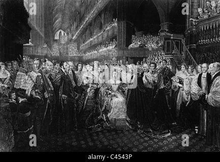 Coronation of Queen Victoria of Great Britain, 1838 - Stock Photo
