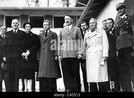 Schmidt, Duke of Windsor, Hitler, Ley at the Berghof - Stock Photo