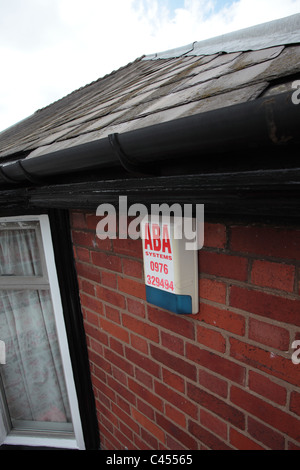 Burglar alarm in the eaves of a house - Stock Photo