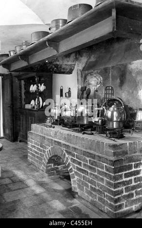 Kitchen in Uphagen House in Gdansk in the 18th century - Stock Photo