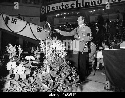 Franz Ritter von Epp, in a speech at the Sports Palace, 1934 - Stock Photo