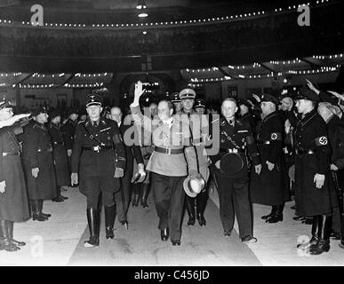 Franz Ritter von Epp and Arthur Goerlitz at a rally of the Reich Colonial League, 1937 - Stock Photo