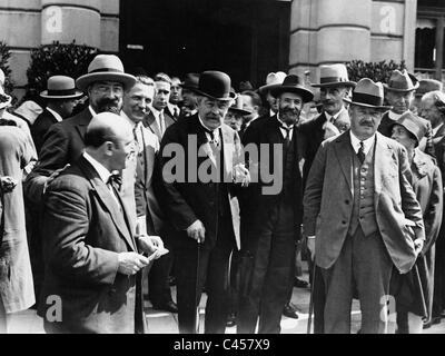 Aristide Briand at the IX plenary session of the League of Nations, 1928 - Stock Photo