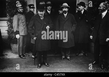 Aristide Briand at the session of the League of Nations in Lugano, 1929 - Stock Photo