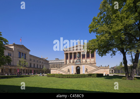 Alte Nationalgalerie or Old National Gallery and Neues Museum on Museum Island or Museumsinsel in Mitte Berlin Germany - Stock Photo