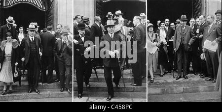 Arthur Henderson, Julius Curtius and Aristide Briand at the meeting of the League of Nations in Geneva, 1930 - Stock Photo