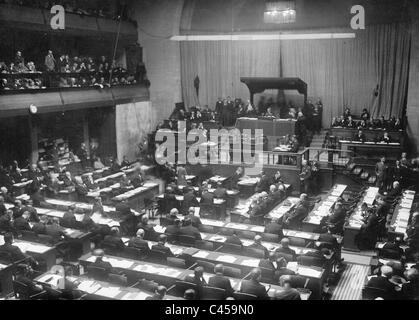 Meeting of the League of Nations in Geneva, 1926 - Stock Photo
