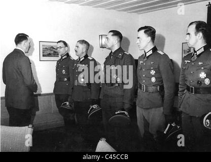 Presentation of decorations to officers, among them is Georg Freiherr von - Stock Photo