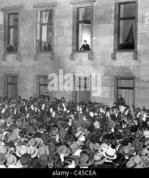 Reich Chancellery, Hitler at the window - Stock Photo