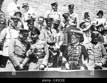 Seeckt, Crown Prince Wilhelm, Mackensen, Hutier - Stock Photo