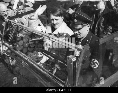 Hitler with Kempka - Stock Photo