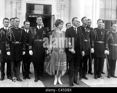 President Calvin Coolidge and his wife, Grace, 1927 - Stock Photo