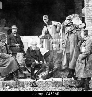 German writers during the First World War on the Italian front, 1918 - Stock Photo