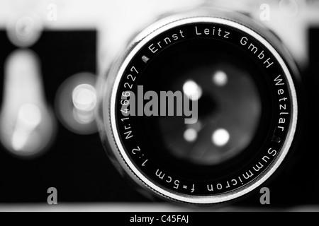 Leica M3 with Leitz Summicron lens - Stock Photo