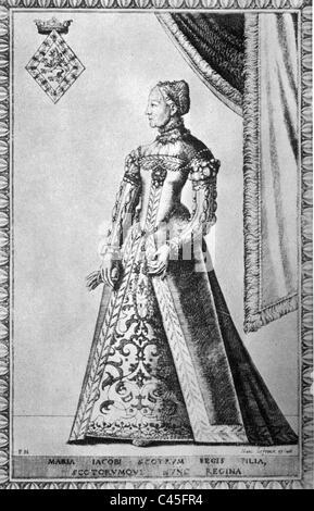 Mary Stuart, Queen of Scotland - Stock Photo