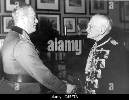 Wilhelm Keitel congratulates August von Mackensen, 1944 - Stock Photo