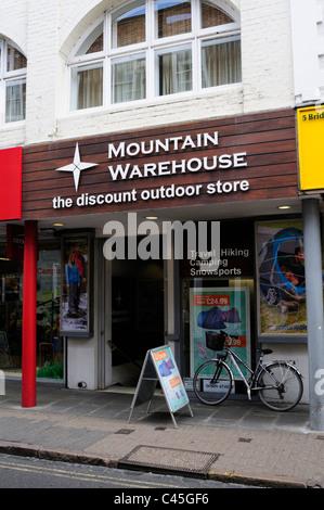 Mountain Warehouse The Discount Outdoor Store, Cambridge, England, UK - Stock Photo
